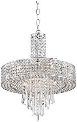 "Crystal Cascade 19 3/4"" Wide Crystal Pendant Chandelier - Lamps Plus"
