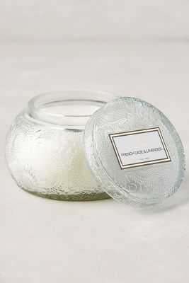 Voluspa Rounded Cut Glass Candle - Anthropologie