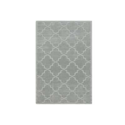 Hand-Woven Amy Tone-on-Tone Lattice Wool Rug (9' x 12') - Grey - Overstock