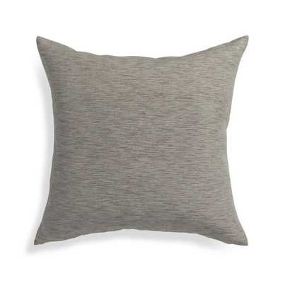 "Linden Mushroom Grey 18"" Pillow with Feather-Down Insert - Crate and Barrel"