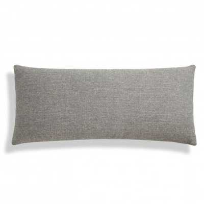"13"" x 30"" Pillow-Charcoal- Feather fill insert - BluDot"