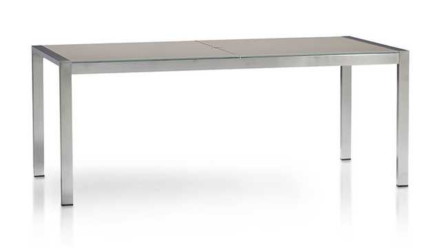 Dune Rectangular Dining Table with Painted Glass - Crate and Barrel