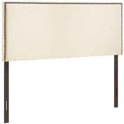 Upholstered Headboard, Queen, Ivory - AllModern