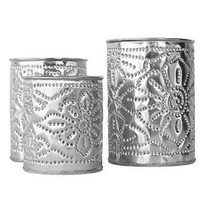 Aluminum Candle Holder Set - Domino