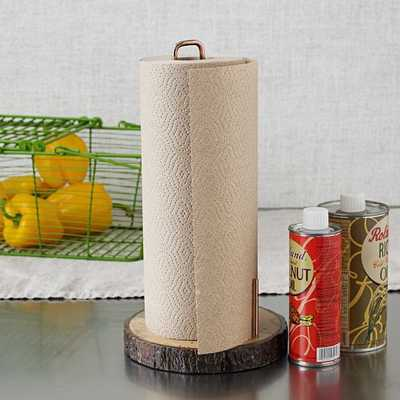 Raw Wood Paper Towel Holder - West Elm