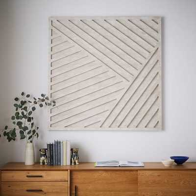 Whitewashed Wood Wall Art - Set of 4 - West Elm