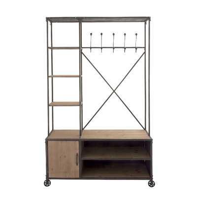 Multipurpose Metal Wood Hall Cabinet - Wayfair