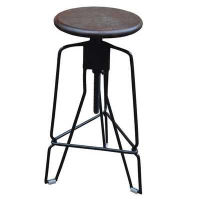 Adjustable Height Swivel Bar Stool - Walnut - AllModern