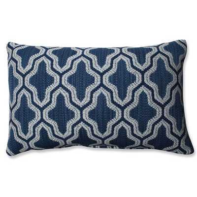 """Mosaic Eclipse Lumbar Pillow-Blue-  11"""" H x 18"""" W x 5"""" D- Polyester Fiber fill insert - AllModern"""
