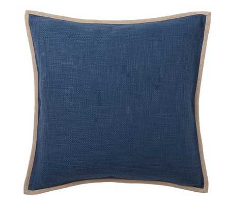 "BASKETWEAVE PILLOW COVER - Blue jay - 20""Sq - Insert sold separately - Pottery Barn"