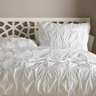 Organic Cotton Pintuck Duvet Cover -King - West Elm