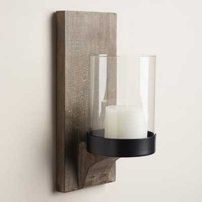 Rustic Wood Mason Sconce - World Market/Cost Plus