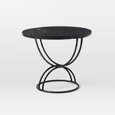 Disc Side Table, Black - West Elm