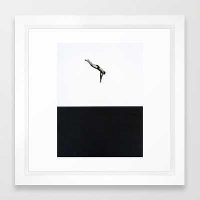 "Dive -12"" X 12""- framed - Society6"