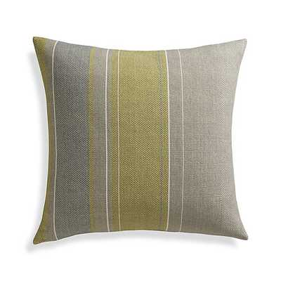 """Jensen 23"""" Pillow, Gray, gold - Feather Insert - Crate and Barrel"""