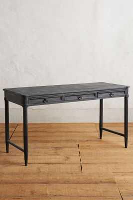 Washed Wood Desk - Indigo - Anthropologie
