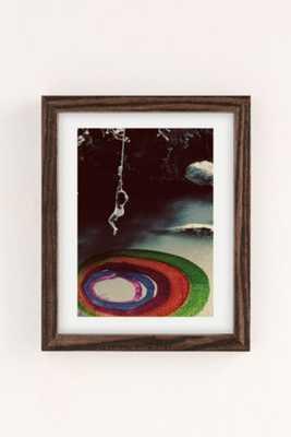 Alexandra Valenti Rope Swings Art Print - 13X19 - Walnut Wood Frame - Urban Outfitters