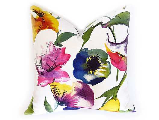 Watercolor Flower Decorative Pillow Cover - Etsy