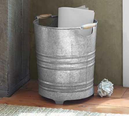 Galvanized Trash Can - Pottery Barn