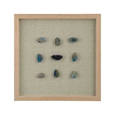 Blue Agate Shadow Box- Height: 17 x Width: 17 - Rosen Studio