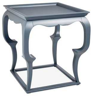 Cassio Side Table, Blue - One Kings Lane