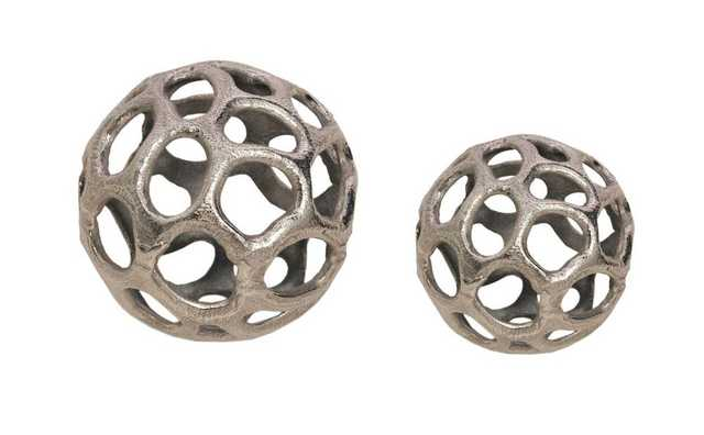 Silver Ball Set of Two - Domino