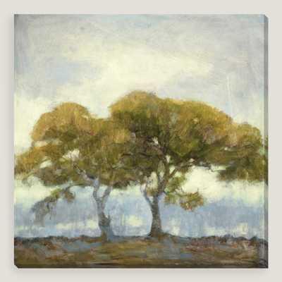 "Oaks in the Mist III by Kim Coulter- 35""W x 1.5""D x 35""H, 8 lbs.- Framed - World Market/Cost Plus"