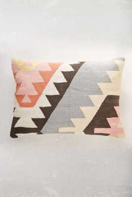 "Plum & Bow Tepec Kilim Pillow-Pink - 14""x20""-With Insert - Urban Outfitters"