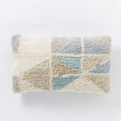 "Geo Wool Lumbar Pillow Cover - 12""w x 21""l -Multi- No insert - West Elm"