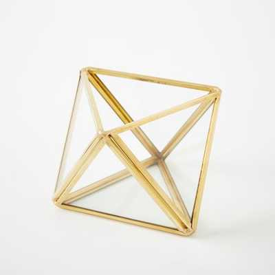 Faceted Terranium - Gold - Extra small - West Elm
