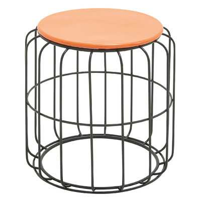 Side Table - Orange/Black - Wayfair
