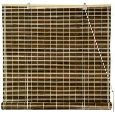 "Burnt Bamboo Roll-Up Shade - Olive Green, 48""W - Wayfair"