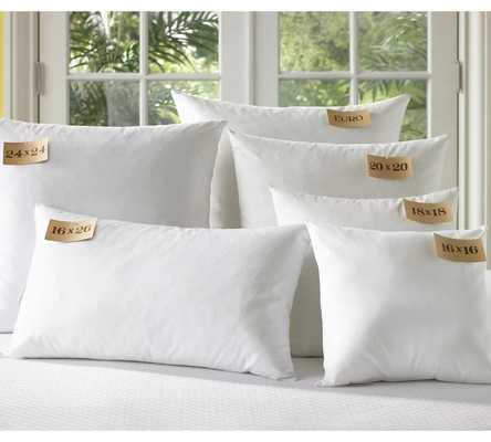 """Synthetic Bedding Pillow Inserts-18""""Sq-White - Pottery Barn"""