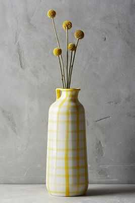 Milos Vase - Yellow, Medium - Anthropologie