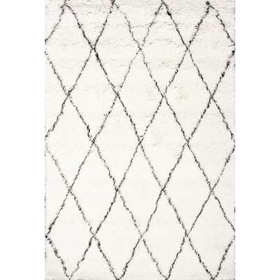 nuLOOM Handmade Moroccan Trellis Wool Shag Rug - Overstock