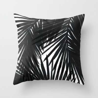 "Palms Black Indoor Pillow - 18"" x 18"" - Down Insert - Society6"