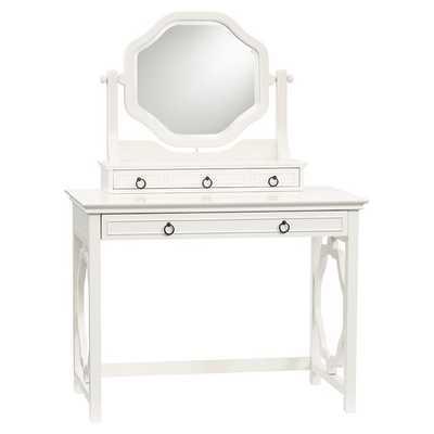 Classic Vanity Desk + Mirror Set - Pottery Barn Teen
