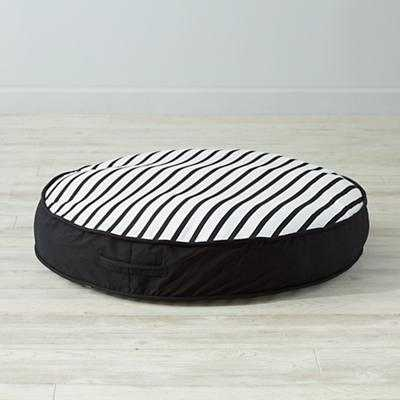 Black and White Floor Cushion - Land of Nod