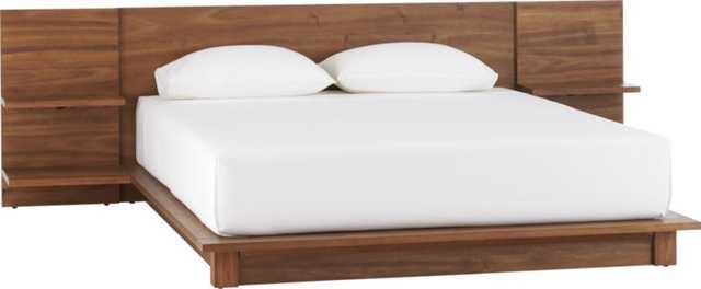 andes acacia queen bed - CB2