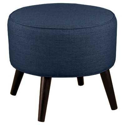 Round Cone Leg Ottoman - Blue - Target