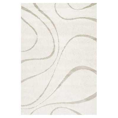 Veneti Cream Curves Area Rug - Wayfair