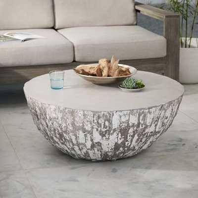 Sculpted Concrete Drum Coffee Table - West Elm