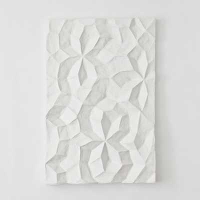 """Papier Mache Wall Art - Geo Panel I- 26""""w x 5""""d x 37""""h.- Unframed - West Elm"""
