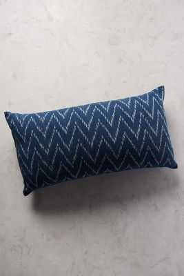 "John Robshaw Indigo Wave Pillow - 17""x32"" - Down fill - Anthropologie"