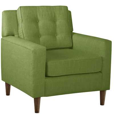 Elena Arm Chair - Linen Kelly Green - Wayfair