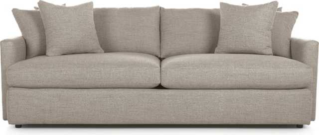 "Lounge II 93"" Sofa - Heather - Crate and Barrel"