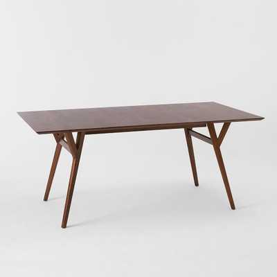 "Mid-Century Expandable Dining Table - Medium (60""-80"") - Walnut - West Elm"