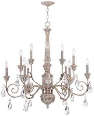 """Avignon 35"""" Wide 12-Light French Terracotta Chandelier - Lamps Plus"""