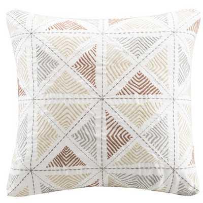 Zelda Embroidered Cotton Throw Pillow - AllModern