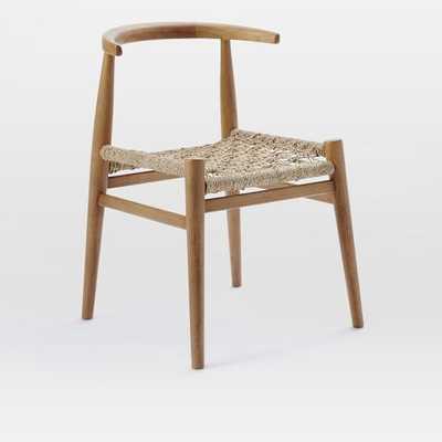 John Vogel Chair, Set of 4, Almond/Jute - West Elm